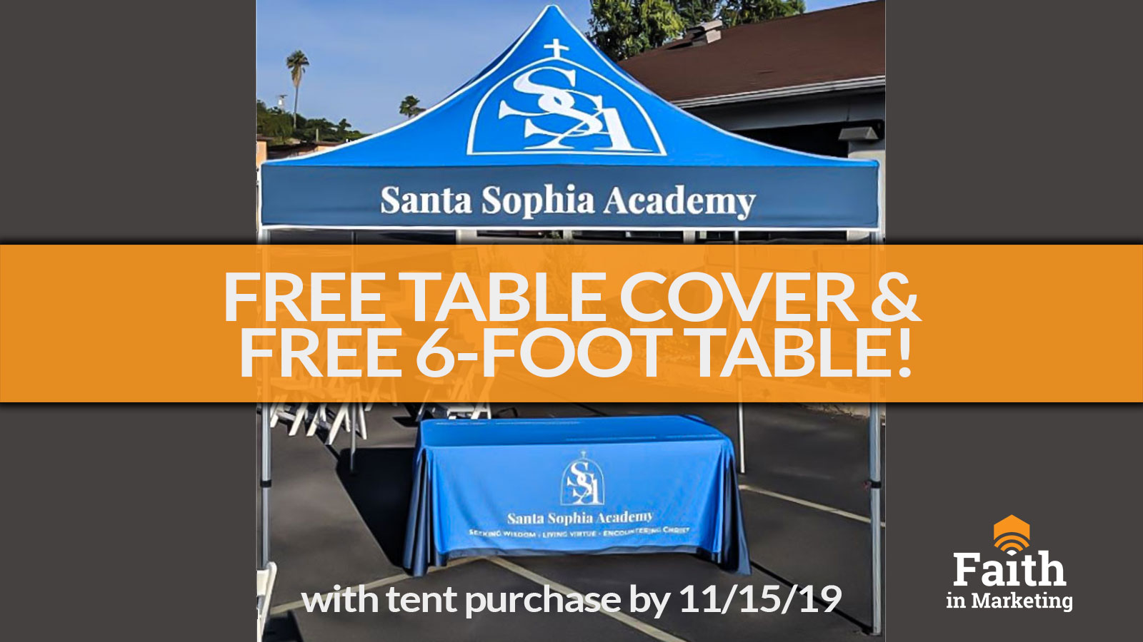 Free Table Cover & Free 6-ft Table